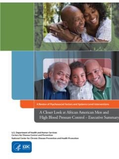 African American Men and High Blood Pressure Executive …