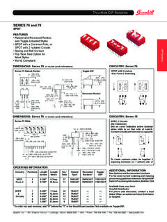 Thru-ole DIP Switches SERIES 76 and 78