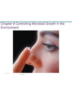 Chapter 9 Controlling Microbial Growth in the Environment