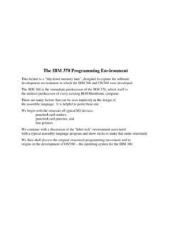 The IBM 370 Programming Environment - Edward Bosworth