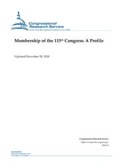 Membership of the 115th Congress: A Profile