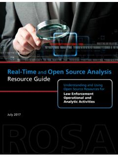 Real-Time and Open Source Analysis (ROSA) Resource Guide