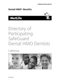 Directory of Participating SafeGuard Dental HMO …