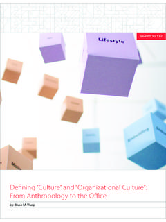 "Defining ""Culture"" and ""Organizational Culture"": From ..."