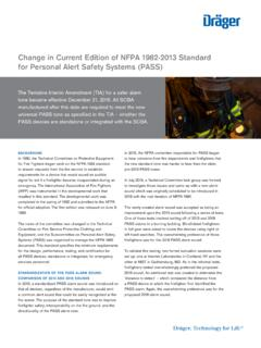 Change in Current Edition of NFPA 1982-2013 Standard for ...
