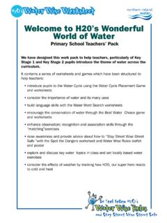 Water Wise Worksheet