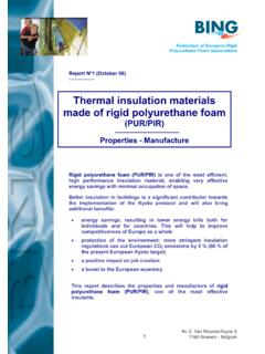 Thermal insulation materials made of rigid polyurethane foam