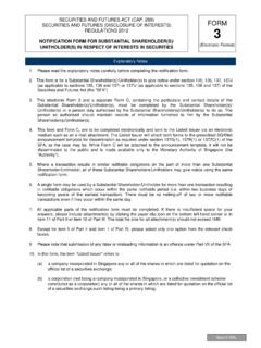 NOTIFICATION FORM FOR SUBSTANTIAL SHAREHOLDER(S ...