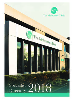 Specialist Directory - themelbourneclinic.com.au