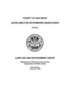 COUNTY OF SAN DIEGO GUIDELINES FOR …