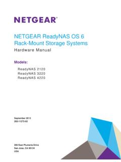 ReadyNAS OS 6 Rack-Mount Storage Systems Hardware …