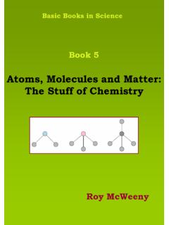 Atoms, Molecules and Matter: The Stuff of Chemistry