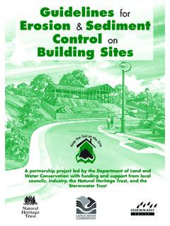 Guidelines for Erosion & Sediment Control on Building Sites