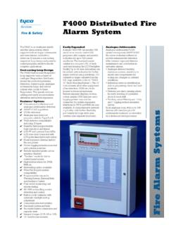 F4000 Distributed Fire Alarm System - Johnson Controls