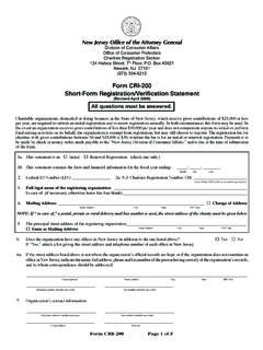 Form CRI-200 Short-Form Registration/Verification …