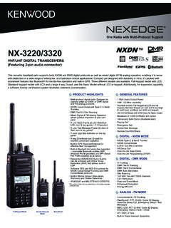NEXEDGE VHF/UHF MULTI-PROTOCOL DIGITAL AND …