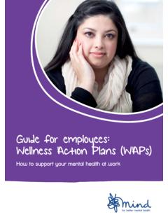 Guide for employees: Wellness Action Plans (WAPs) - Mind