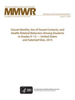 Sexual Identity, Sex of Sexual Contacts, and Health ...