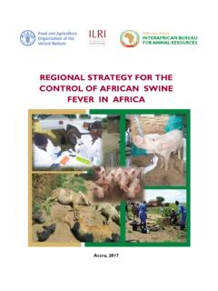 REGIONAL STRATEGY FOR THE CONTROL OF AFRICAN …