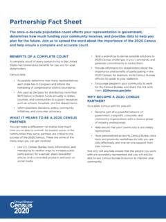 Partnership Fact Sheet - census.gov