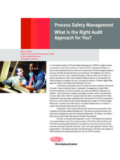 Process Safety Management What Is the Right ... - DuPont USA