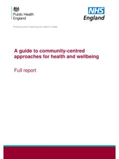 A guide to community-centered approaches for health and ...