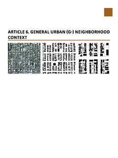 Article 6. GENERAL URBAN (G-) NEIGHBORHOOD CONTEXT