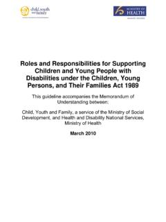 Roles and Responsibilities for Supporting Children and ...