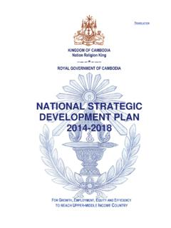 NATIONAL STRATEGIC DEVELOPMENT PLAN 2014-2018