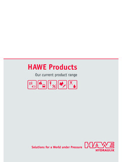 HAWE product range – Contents