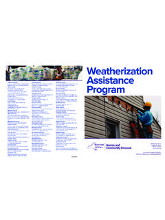 Weatherization Assistance - New York State Homes ...