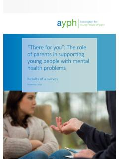 Results of a survey - Association for Young People's …