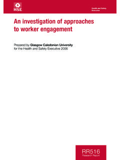 An investigation of approaches to worker engagement RR516
