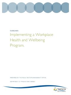 GUIDELINES - Implementing a Workplace Health …