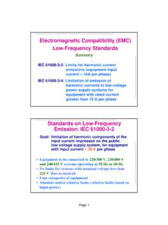 Electromagnetic Compatibility (EMC) Low …