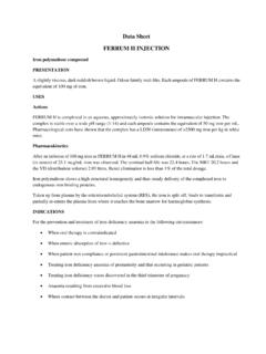 Data Sheet FERRUM H INJECTION - Medsafe Home …