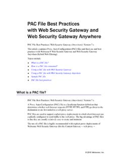 Websense: PAC File Best Practices