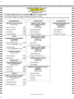SAMPLE PRIMARY BALLOT DEMOCRATIC PARTY BREVARD …