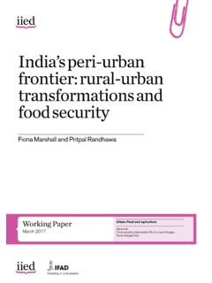 India's peri-urban frontier: rural-urban transformations ...