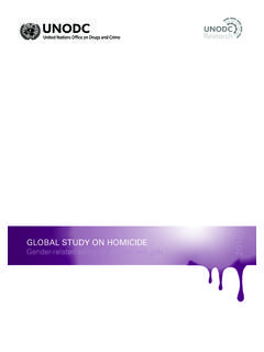 GLOBAL STUDY ON HOMICIDE 2018 - unodc.org