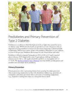 Prediabetes and Primary Prevention of Type 2 Diabetes