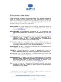 Glossary of tourism terms1 - World Tourism Organization