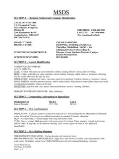 Cream Hardener MSDS - Material Safety Data Sheets