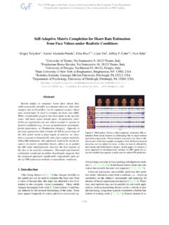 Self-Adaptive Matrix Completion for Heart Rate Estimation ...