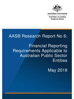 AASB Research Report No 6: Financial Reporting ...