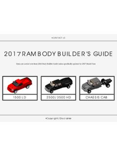201 RAM BODY BUILDER S GUIDE