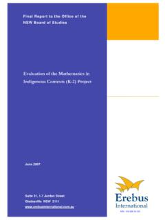 Evaluation of the Mathematics in Indigenous Contexts (K-2 ...