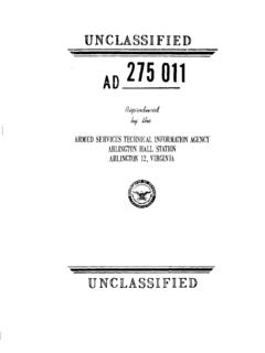 AD 275 011 - Defense Technical Information Center