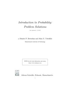Introduction to Probability: Problem Solutions