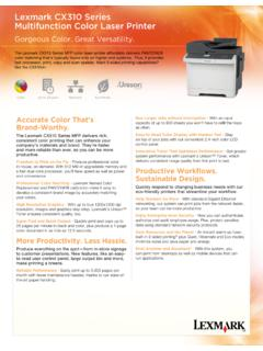 Lexmark CX310 Series Multifunction Color Laser Printer